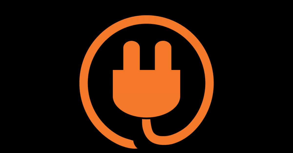 Logo Icon Technikwerker auf Schwarz